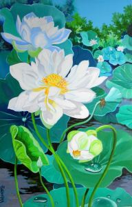 Multipetaled White Lotus II