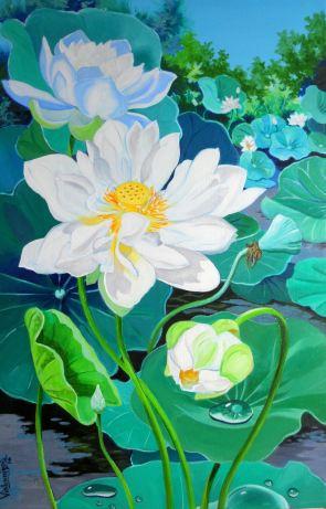 Multipetaled White Lotus II