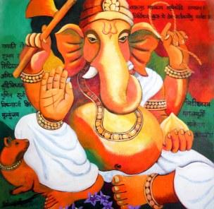 Tricolor Ganesh
