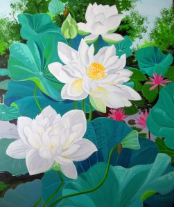 Multipetaled White Lotus